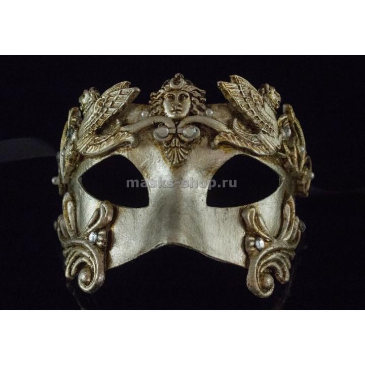 Маскарадная маска Barocco Grifone Silver