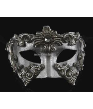 Маскарадная маска Barocco Silver