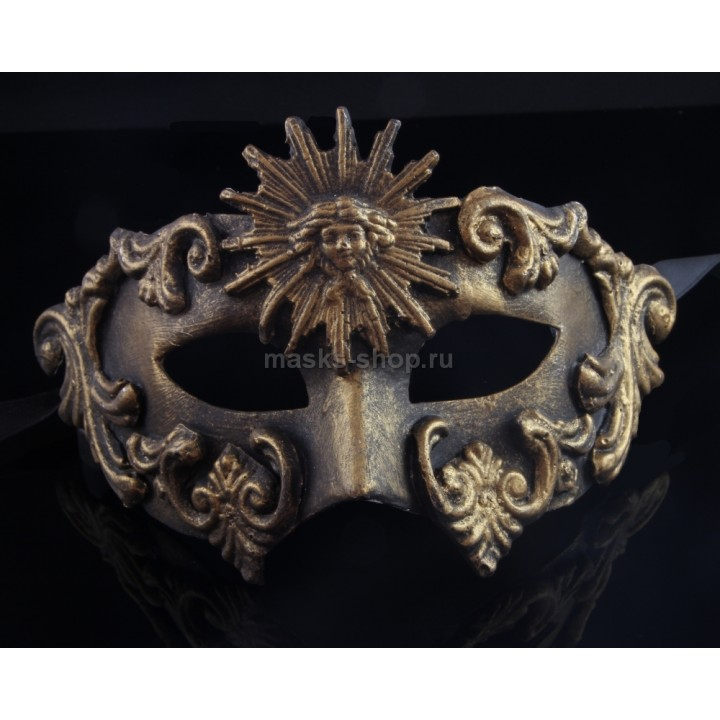Маскарадная маска Barocco Sole Bronze