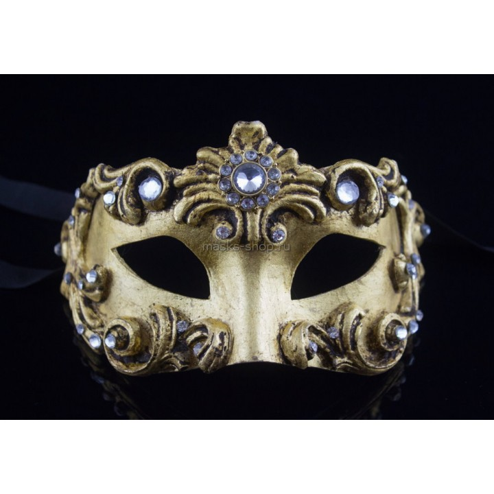 Маскарадная маска Barocco Gold