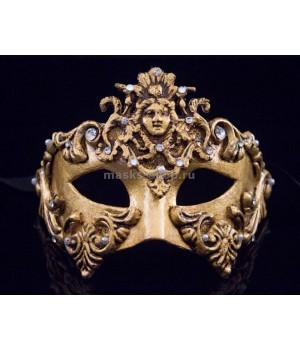 Маскарадная маска Barocco Dama Gold