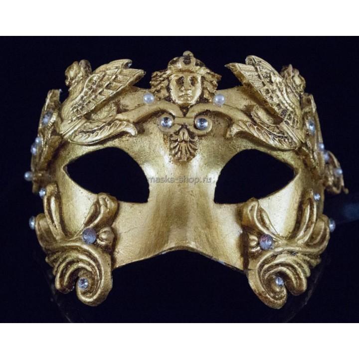 Маскарадная маска Barocco Grifone Gold