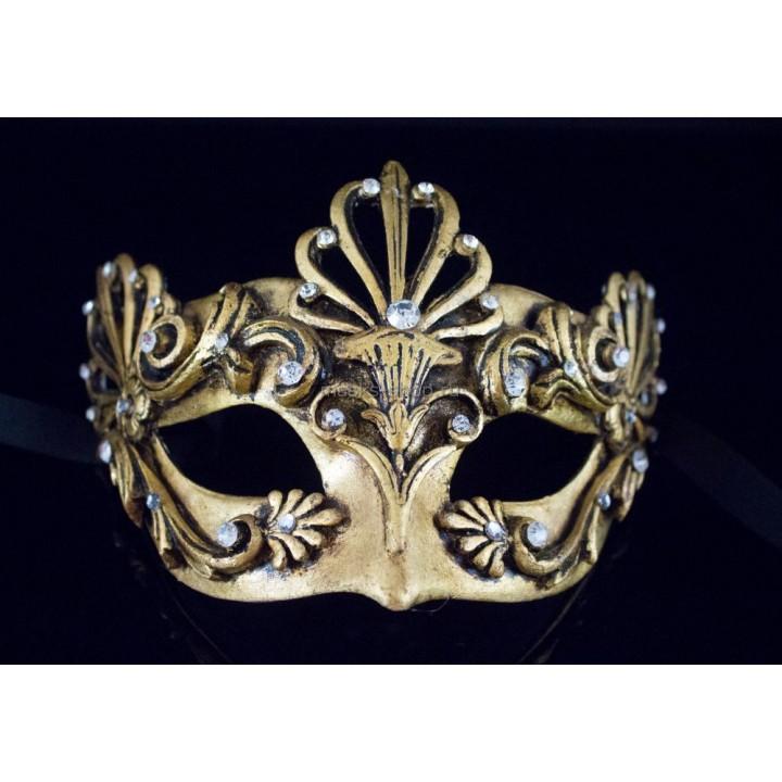 Маска на бал маскарад Barocco Aria Gold