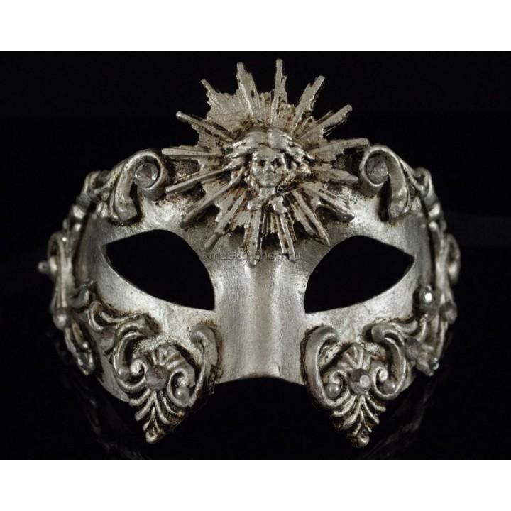 Маскарадная маска Barocco Sole Silver
