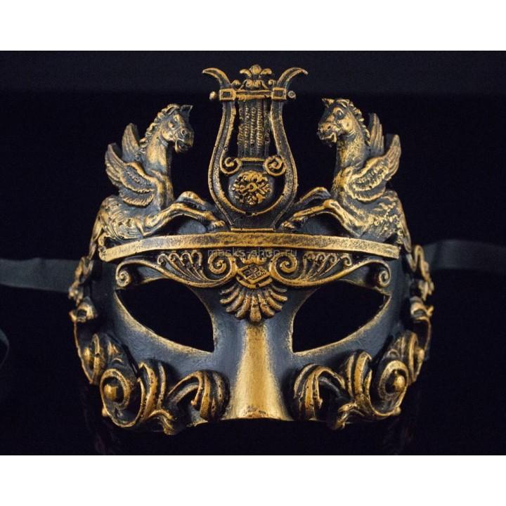 Маскарадная маска Barocco Cavalli Bronze