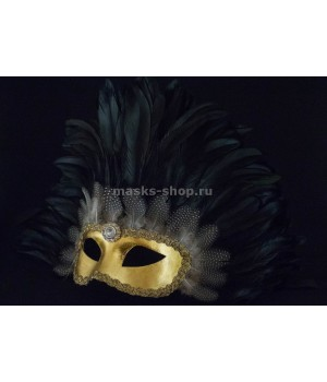 Маска с перьями Reale Black