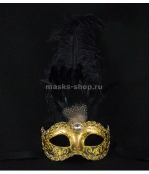 Маска с перьями Sisi Gold