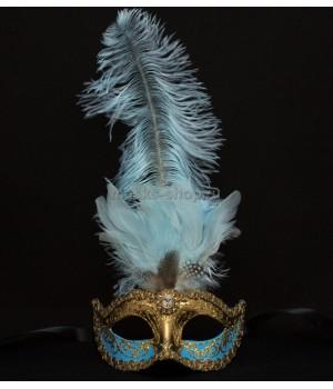 Маска с перьями Sisi SkyBlue