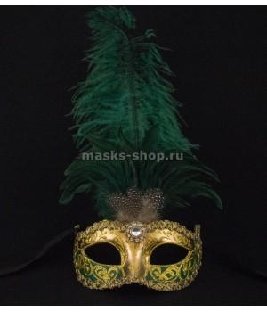 Маска с перьями Sisi Green