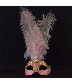 Маска с перьями Stella Pink