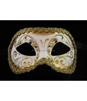 Карнавальная маска Decor Era Gold White