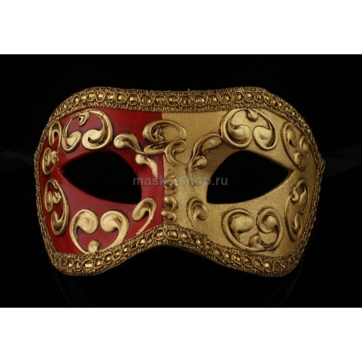 Карнавальная маска Mezza Red