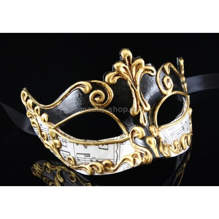 Карнавальная маска Musica Sinfonia Black