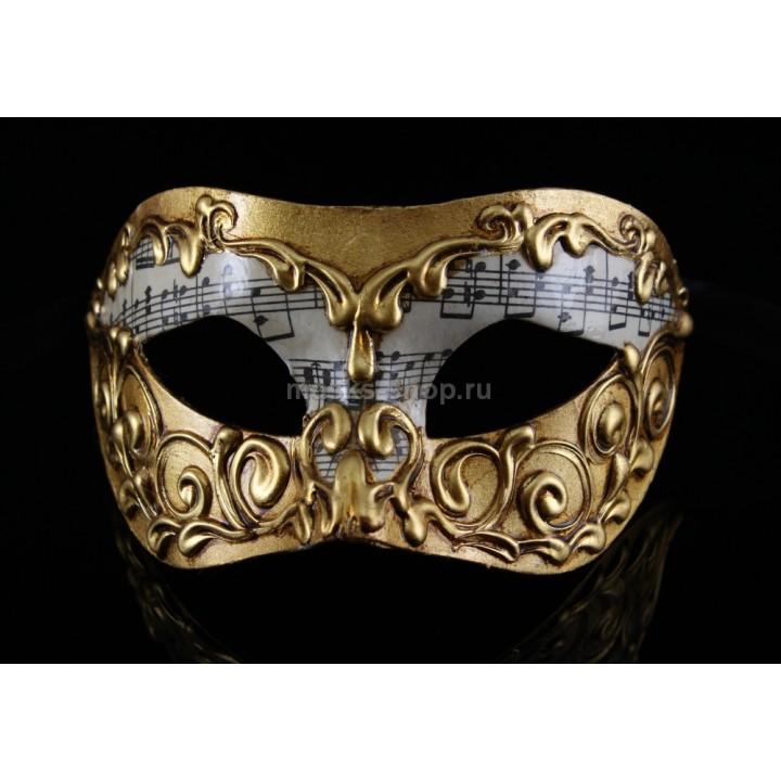 Карнавальная маска Musica Stucchi Gold
