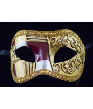 Карнавальная маска Art Deco Red