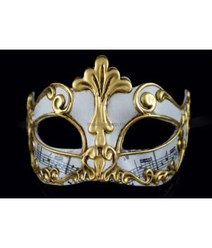 Карнавальная маска Musica Sinfonia White