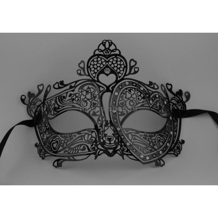 Черная ажурная маска Фавалоро