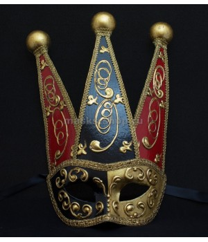 Венецианская маска Colombina Red