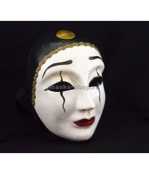 Женская маска Пьеро