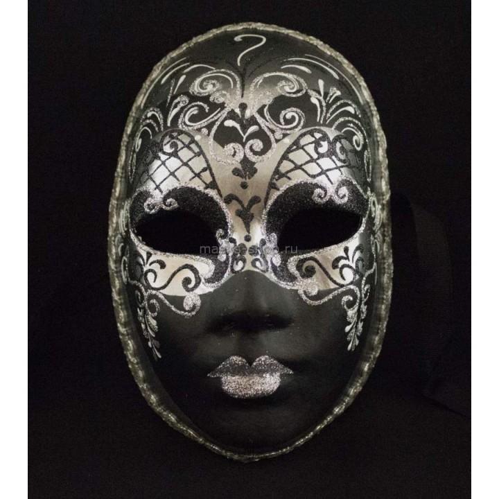 Венецианская маска Volto Aria Silver