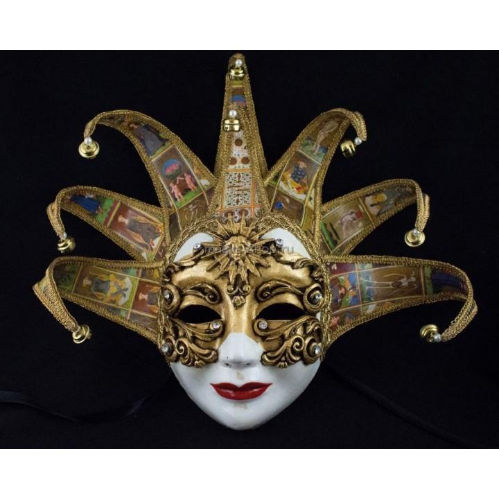 Маска Венецианская Дама с карточным узором