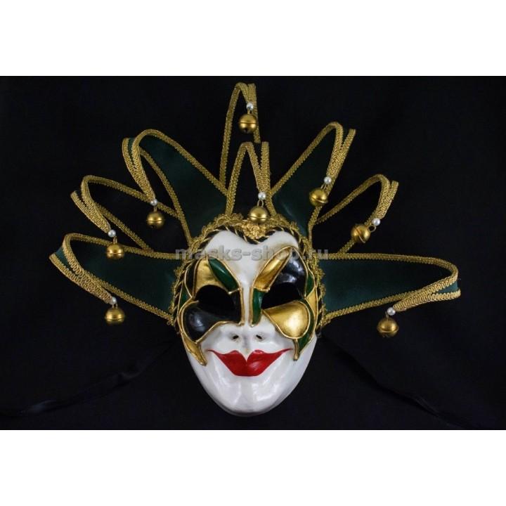 Венецианская маска Joker Green